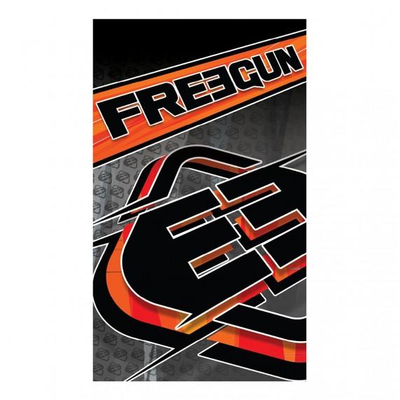 Grande Serviette de Plage FREEGUN Racing Orange 100% Coton (Serviettes de Bain) Freegun chez FrenchMarket