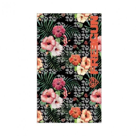Grande Serviette de Plage FREEGUN Fleurs 100% Coton (Serviettes de Bain) Freegun chez FrenchMarket