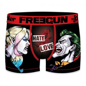 Boxer Freegun Homme DC Comics The Joker Hate Love  (Boxers) chez FrenchMarket