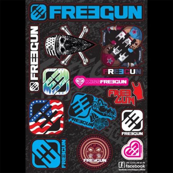Autocollant - Planche de stickers adhésives FREEGUN (210*297) (Autocollants/Stickers) Freegun chez FrenchMarket