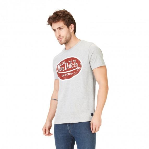 Von Dutch T-Shirt Homme Logo Uni Aaron Gris Chiné  (T Shirts) chez FrenchMarket