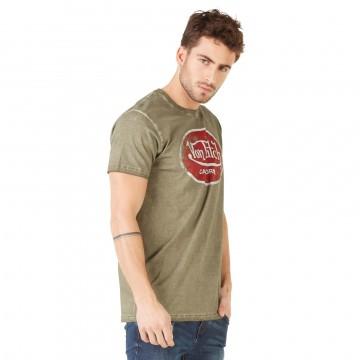 Von Dutch T-Shirt Homme Logo Uni Aaron Kaki  (T Shirts) chez FrenchMarket