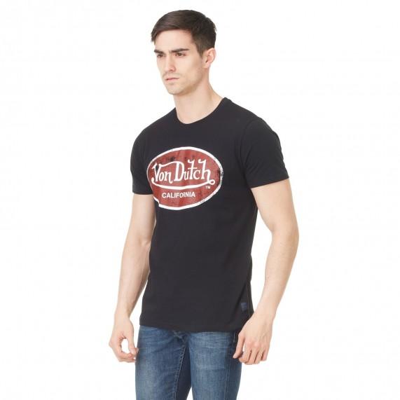 Von Dutch T-Shirt Homme Logo Uni Aaron Noir (T Shirts) Von Dutch chez FrenchMarket