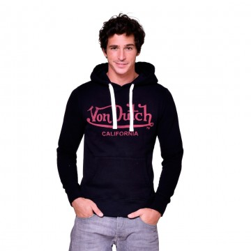 Sweat Capuche Hoodie Noir Logo Rouge (Pulls/Sweats) Von Dutch chez FrenchMarket