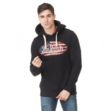 Sweat Capuche Hoodie Noir Logo USA (Pulls/Sweats) Von Dutch chez FrenchMarket