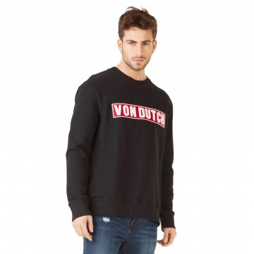 Sweat Clint Noir Logo Rouge (Pulls/Sweats) Von Dutch chez FrenchMarket