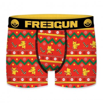 Boxer FREEGUN Garçon Pokemon Noël Snow (Boxers) Freegun chez FrenchMarket