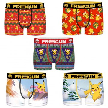 Lot de 5 Boxers FREEGUN Garçon Pokemon Noël (Boxers) Freegun chez FrenchMarket