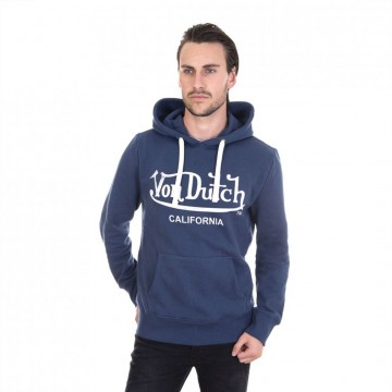 Sweat Capuche Hoodie Bleu Logo Blanc  (Pulls/Sweats) Von Dutch chez FrenchMarket