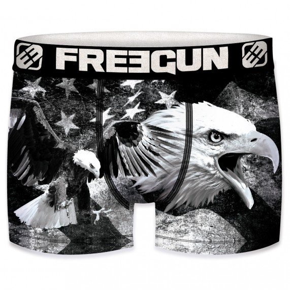 Boxer Homme USA Flag Eagle Black and White (Boxers) Freegun chez FrenchMarket