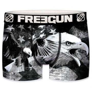 Boxer Homme USA Flag Eagle Black and White (Boxers) Freegun chez FrenchMarket