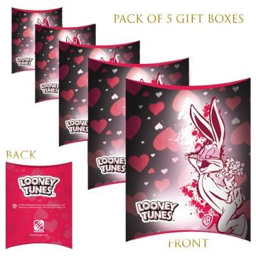 Lot de 5 Boites cadeaux berlingot Looney Tunes Saint Valentin  (Boites cadeaux) chez FrenchMarket