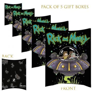 Lot de 5 Boites cadeaux berlingot Rick And Morty  (Boites cadeaux) chez FrenchMarket