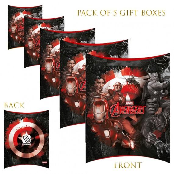 Lot de 5 Boites cadeaux berlingot Marvel Avengers 2020 (Boites cadeaux) French Market chez FrenchMarket