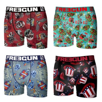 Lot de 4 Boxers FREEGUN Bébé Pack Skull  (Boxers) Freegun chez FrenchMarket