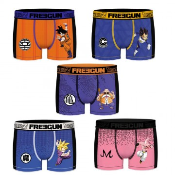 FREEGUN Lot de 5 Boxers Homme Aktiv Sport Dragon Ball Z (Boxers) Freegun chez FrenchMarket
