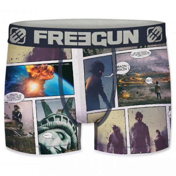 FREEGUN Boxer Homme Collection Comics Zombie (Boxers) Freegun chez FrenchMarket