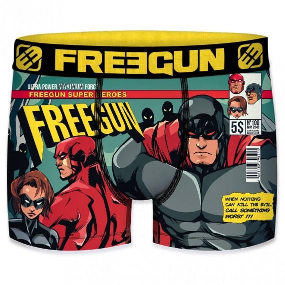 FREEGUN Boxer Homme Collection Comics Super-Héros  (Boxers) chez FrenchMarket