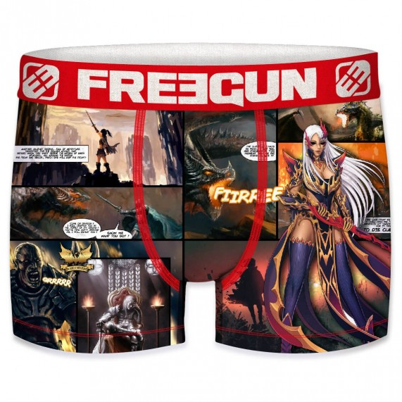 FREEGUN Boxer Homme Collection Comics Dragon  (Boxers) chez FrenchMarket