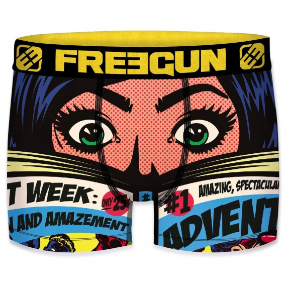 FREEGUN Boxer Homme Collection Comics Roy Lichtenstein (Boxers) Freegun chez FrenchMarket