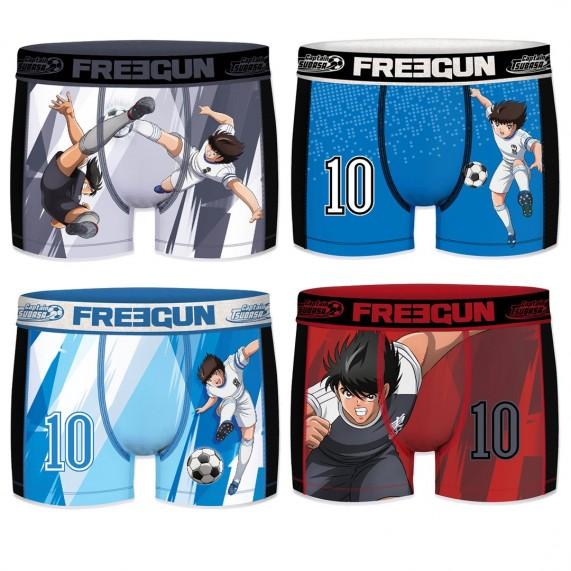 Lot de 4 Boxers Homme AKTIV Sport Tsubasa (Boxers) Freegun chez FrenchMarket
