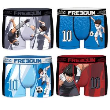 FREEGUN Lot de 4 Boxers Homme AKTIV Sport Tsubasa  (Boxers) chez FrenchMarket