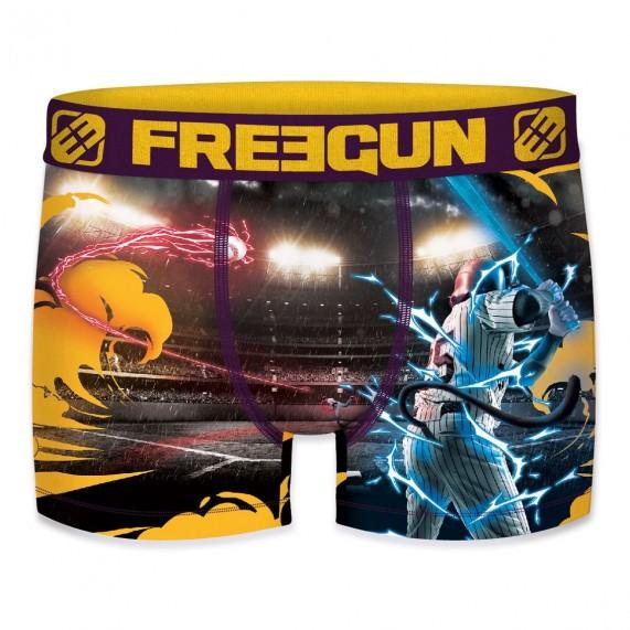 Boxer Freegun Homme Photo Sport Baseball by Night (Boxers) Freegun chez FrenchMarket