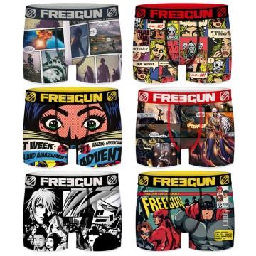 Lot de 6 Boxers FREEGUN Homme Comics  (Boxers) chez FrenchMarket