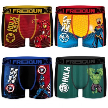 FREEGUN Lot de 4 Boxers Homme Aktiv Sport Marvel (Boxers) Freegun chez FrenchMarket