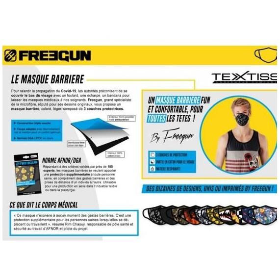 FREEGUN Masque Barrière Enfant En Tissu Lavable (Masque de protection) Freegun chez FrenchMarket