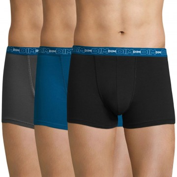 Lot de 3 Boxers Homme Coton Stretch (Boxers) Dim chez FrenchMarket