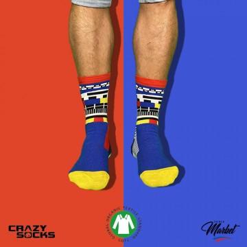 CRAZY SOCKS Chaussettes Fantaisies Coton Bio  (Chaussettes fantaisies) chez FrenchMarket