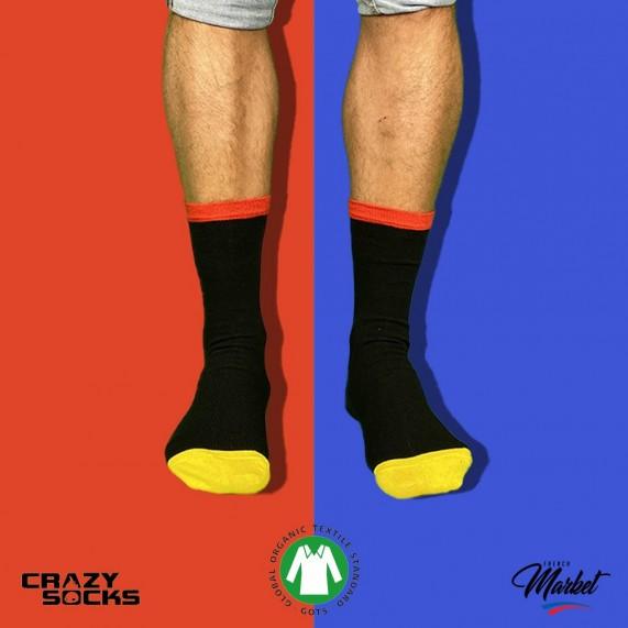 CRAZY SOCKS Chaussettes Fantaisies Coton Bio (Chaussettes fantaisies) Crazy Socks chez FrenchMarket