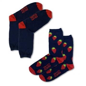 CRAZY SOCKS Chaussettes Fruits Coton Bio (Chaussettes fantaisies) Crazy Socks chez FrenchMarket