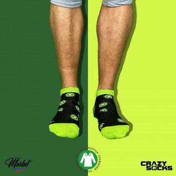 CRAZY SOCKS Socquette Fruits Coton Bio (Chaussettes fantaisies) Crazy Socks chez FrenchMarket