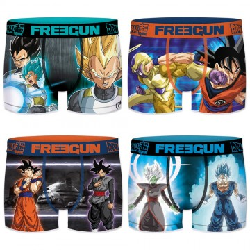 Lot de 4 Boxers Enfant Dragon Ball Super (Boxers) Freegun chez FrenchMarket