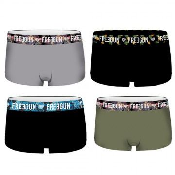FREEGUN Lot de 4 Shorties Femme en Coton Bio (Boxers) Freegun chez FrenchMarket