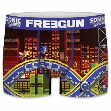 Boxer FREEGUN Homme Sonic The Hedgehog City  (Boxers) chez FrenchMarket