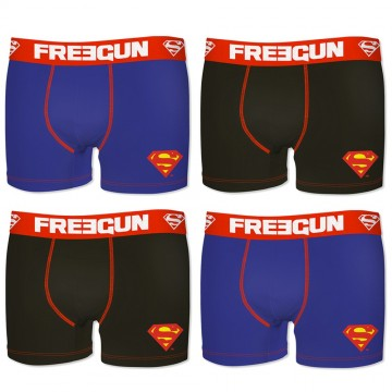Lot de 4 Boxers Homme Coton DC Comics Superman (Boxers) Freegun chez FrenchMarket