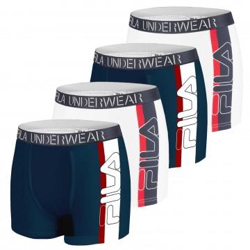 Boxers Big Logo Homme Coton - Lot de 4 (Boxers) Fila chez FrenchMarket