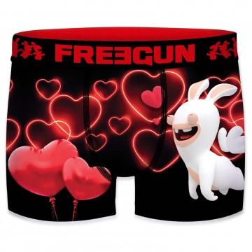 Boxer Freegun Homme Lapins Crétins Saint Valentin (Boxers) Freegun chez FrenchMarket