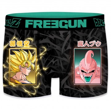 Boxer Homme Dragon Ball Z Super Saiyen Vs Buu (Boxers) Freegun chez FrenchMarket