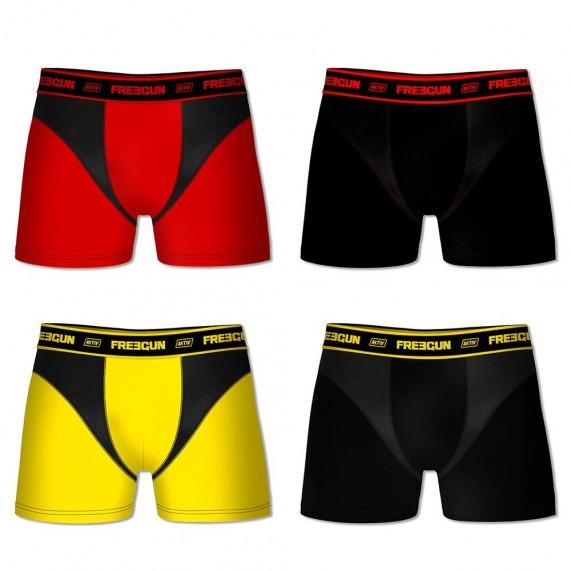 Boxers Homme AKTIV Sport Pack de 4 (Boxers) Freegun chez FrenchMarket