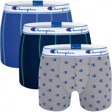 CHAMPION Lot de 3 Boxers Coton Homme Logo Bleu  (Boxers) chez FrenchMarket