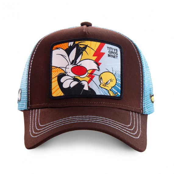Casquette Trucker Looney Tunes Titi Vs Gros Minet (Casquettes) Capslab chez FrenchMarket